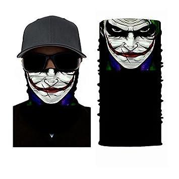 El Joker Máscara Diseño - Máscara, Calentador de cuello, Pañuelo Para Cabeza - ruffnek
