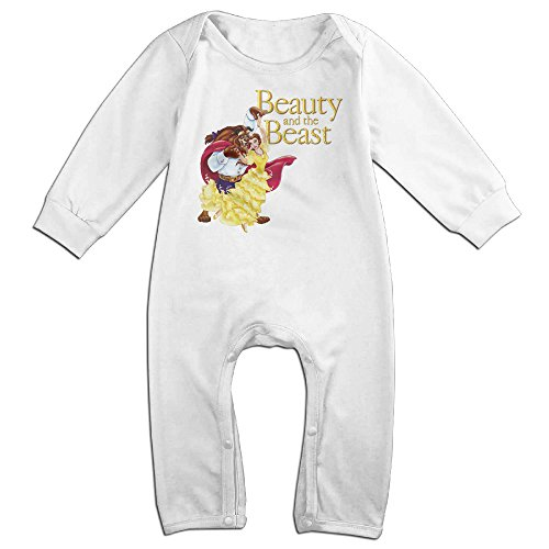 [Ahey Boy's & Girl's Beauty Beast Film Long Sleeve Bodysuit 12 Months] (Maleficent Toddler Costumes)