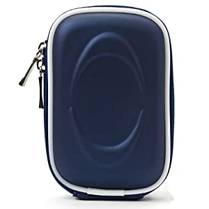 VanGoddy Semi Hard Slim EVA Carrying Case for Nikon Coolpix Series Point and Shoot Digital Cameras (Navy Blue) from VanGoddy