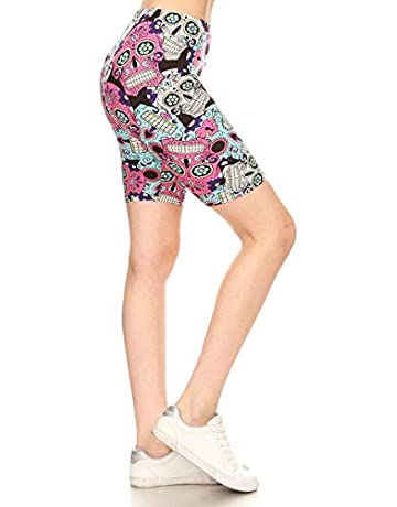 ccdb60321f1 Leggings Depot Women's Ultra Soft Printed Fashion Biker Shorts