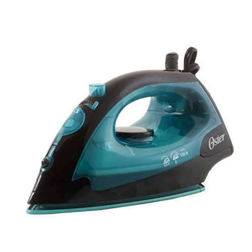 Oster GCSTBS4801T-053 Black/Teal 1200-Watt Variable Steam Iron, 220 Volts (Not for USA - European Cord)