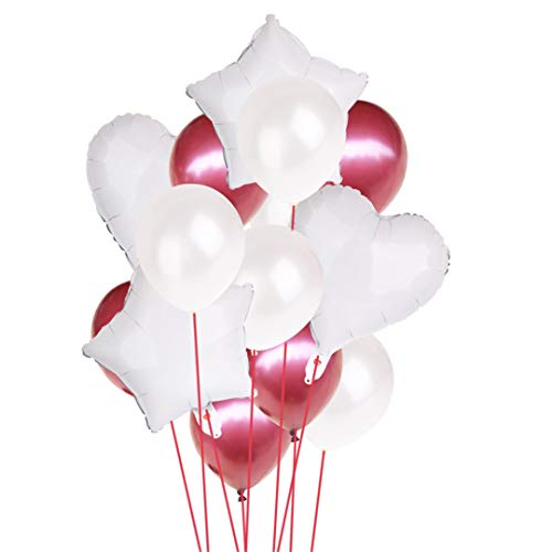 14Pcs 12Inch 18Inch Multi Air Balloons Happy Birthday Party Helium Balloon Decorations Wedding Festival Balon Party Supplies White -