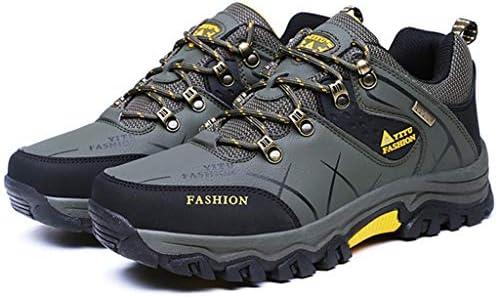メンズ防水ウォーキングシューズメッシュアウター素材アウトドアシューズラバーソール軽量ハイキングシューズ通気性レースアップオールシーズンシューズトレッキングジムランニング用 (Color : Gray, Size : 44)