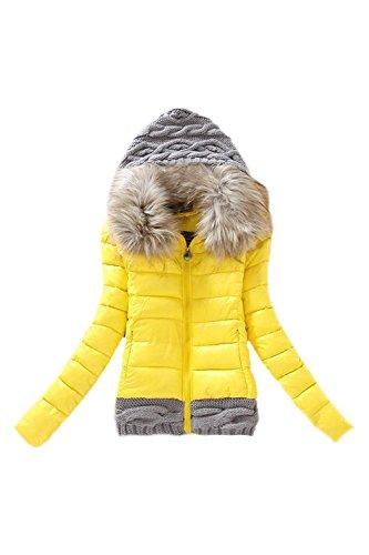 Sweat Lettre Capuche Vêtements À Les Maxi Yellow Manteau Patchwork D'amour Femmes Matelassé En nq1fXqw