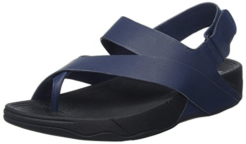 Fitflop Surfer Aperta Midnight Navy Leather Uomo a Blu Sandali Punta rrfHqPg