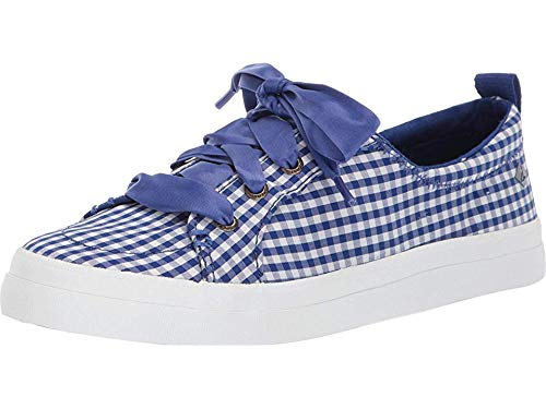 SPERRY Women's Crest Vibe Gingham Mazarine Blue/White 6 M US