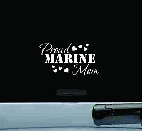 (JS Artworks Proud Marine mom Vinyl Decal Sticker)