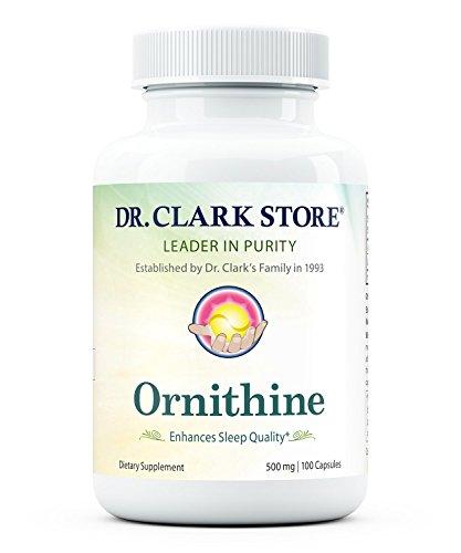 Ornithine, 500 MG, 100 Capsules