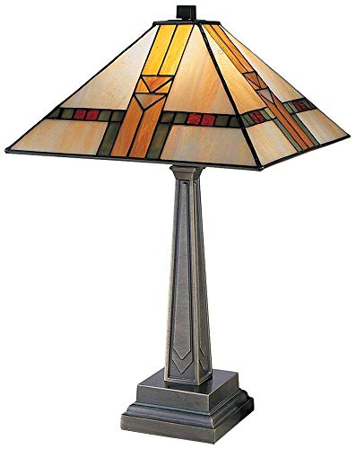 Dale Tiffany 8655/551 Edmund Mission Style Table Lamp, 13.0' x 13.0' x 20.75', Antique Bronze