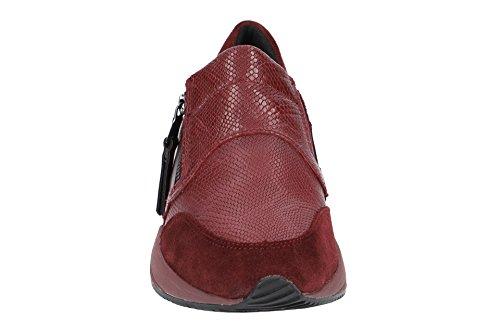 D Baskets Burgundy Omaya Femme Geox C7357 Dk Enfiler A Rouge BxqdxZ4f7