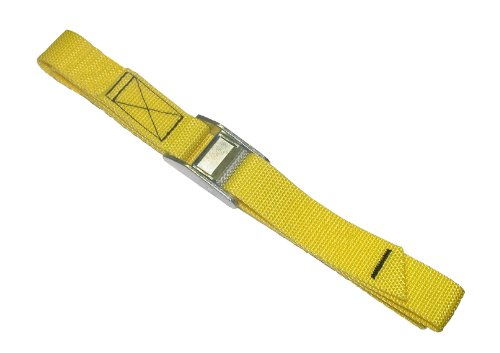CLC Custom Leathercraft 2WS04 Strap-It Web Tie Down Straps, Yellow, 4-Foot, 2-Pack