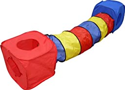 HDP Rainbow Pop Collapsible Cubes and Tunnel Play SET for Cats