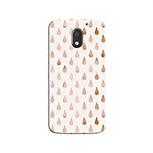 cover It Up - Raindrops Pale Pink Pastel موتو ايه3 Hard case
