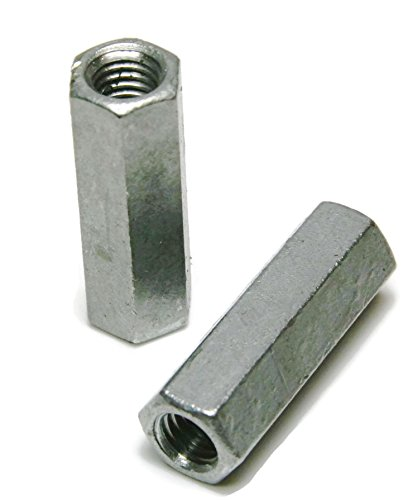 Coupling Nut Zinc Plated - 1/4''-20 (7/16'' F x 1-3/4'' L) - Qty-25