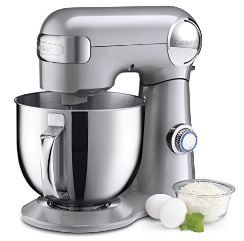 Cuisinart SM-50BC 5.5-Quart Stand Mixer, Brushed Chrome, Silver Lining (Best Stand Mixer For The Money)