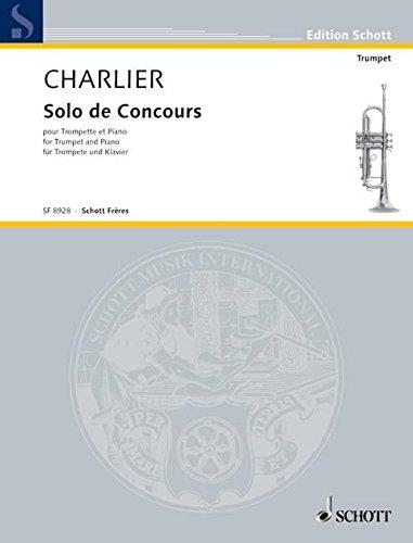 Solo De Concours  Trompete Und Klavier.  Edition Schott