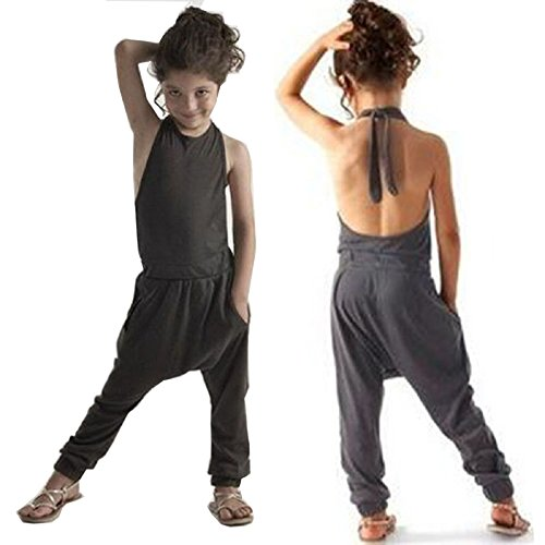 VICVIK Girls Summer Jumpsuits Kids Strap Romper Baby Clothes (Suits For Kids Online)