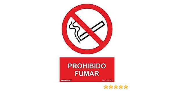 Normaluz RD41000 - Señal Prohibido Fumar PVC Glasspack 0,7mm 30x40 cm