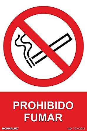 Normaluz RD46600 - Señal Adhesiva Prohibido Fumar Adhesivo de Vinilo 10x15 cm