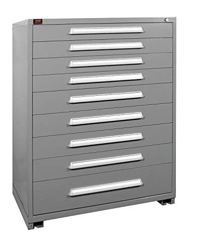 (Stationary Full Height Modular Drawer Cabinet, 9 Drawers, 44-1/2