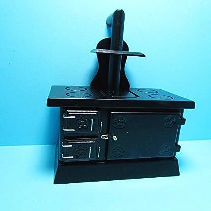 Amazon.com : Dollhouse Miniature Kitchen Wood Burning Stove ...