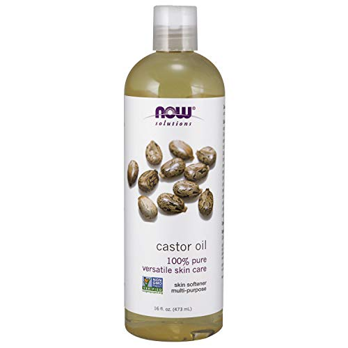 NOW Solutions, Castor Oil, 100% Pure Versatile Skin Care, Multi-Purpose Skin Softener, 16-Ounce (Castor Oil And Vitamin E For Eyelashes)