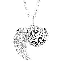 Top PlazaNatural Lava Stone Aromatherapy Locket Pendant Essential Oil Fragrance Diffuser Necklace