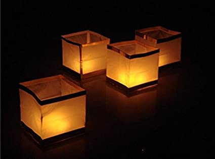 Amazon com: Outdoor Water Floating Candle Lanterns