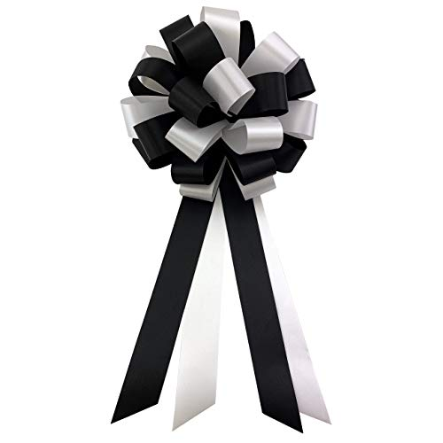 Black and White Pull Bows - 8
