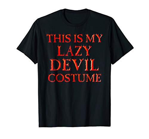 (Last Minute Devil Halloween Costume TShirt-Satan)