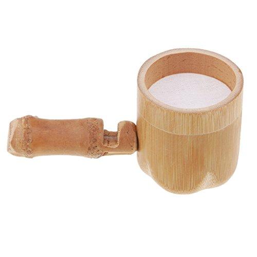 (Homyl Bamboo Tea Filter Mesh Strainer Tea Infuser Strainer Tea Sets Accessories)