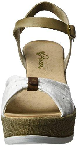 Bout 910709 Ouvert Piazza Femme weiß Weiß Sandales 0qEwqTfx7