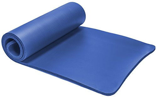 Spoga Exercise Mat Comfort and Straps, Blue