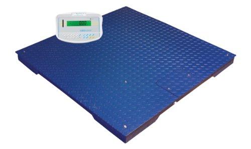 Adam Equipment PT112+GK Floor Scale and GK Indicator, 2500lb/1000kg Capacity, 0.5lb/200g Readability