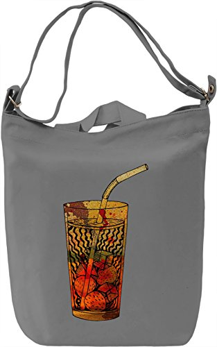 Funky Drink Borsa Giornaliera Canvas Canvas Day Bag| 100% Premium Cotton Canvas| DTG Printing|