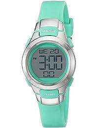 Women's 45/7012TEL Digital Chronograph Teal Resin Strap Watch