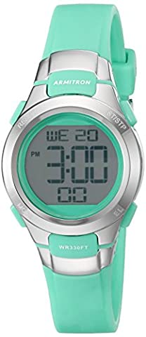 Armitron Sport Women's 45/7012TEL Digital Chronograph Teal Resin Strap Watch (Armitron Sports 50)