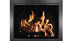 "39"" x 28"" Chalet Powder Coated Aluminum Fireplace Door - Black from Thermo-Rite"