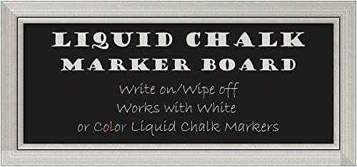 Framed Liquid Chalk Marker Board Panel, Romano Silver: Outer Size 34 x (Silver Roman Markers)