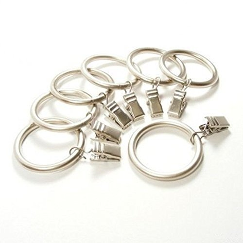 M-Aimee Premium Drapery Clip Rings - 4mm Extra Thick(38mm Interior Diameter) - Set of 48pcs (Silver)