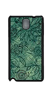 TUTU158600 Design Hard Customized case Of case for samsung galaxy note 3 for girls - vintage green floral pattern