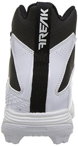 adidas Unisex Freak Mid MD Wide J Football Shoe, FTWR White, core Black, 4 M US Big Kid by adidas (Image #2)