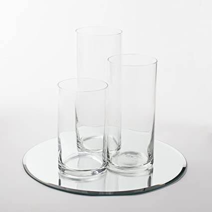 48 round mirror circle eastland round mirror 12quot and cylinder vases centerpiece 48 piece set amazoncom 12