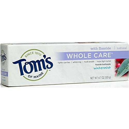 Toms Whole Care Toothpaste (Toms of Maine Whole Care Wintermint Fluoride Toothpaste, 4.7 Ounce -- 6 per case.)