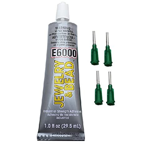 Original Version E6000 Jewelry And Bead Adhesive With 4 Precision Applicator Tips For Jewelry!