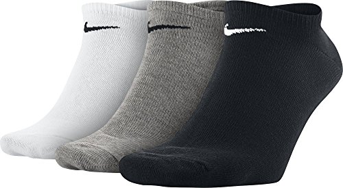 Herren Mehrfarben Multicolore Noir Pack 3er No Show Blanc Gris Sport Nike Socken SqRFdd