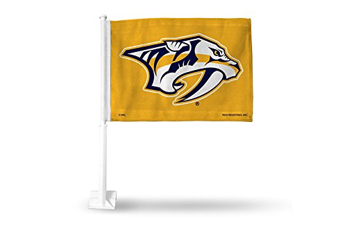 Rico NHL Nashville Predators Car Flag, with White Pole