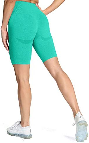 Aoxjox Womens High Waisted Tummy Control Workout Yoga Gym Simle Contour Seamless Cycling Shorts