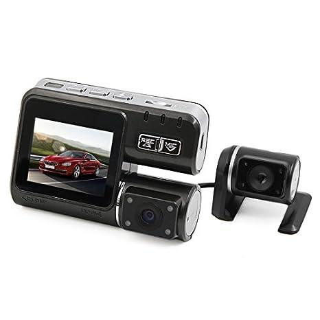 eDealMax 2.0 pulgadas HD 1080P 170 Amplio Ángulo de cámara Dual conducción de automóviles de vídeo