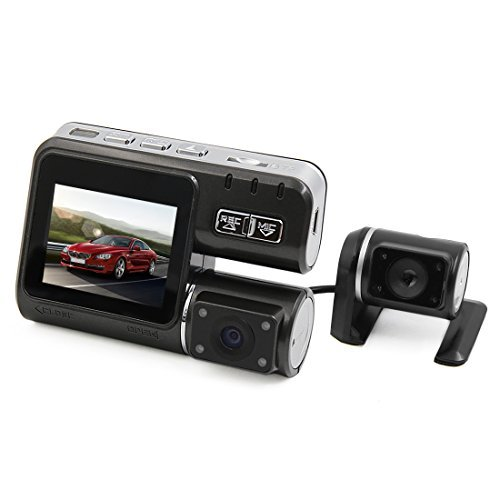 DealMux 2,0 polegadas HD 1080p 170 Wide Angle Dual Camera Car Driving Vdeo Digitial Recorder Cam trao w G-Sensor de movimento Deteco de loop de gravao